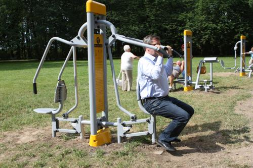"""A photo of the """"outdoor gym"""""""